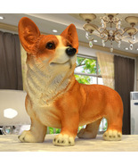 Corgi Dog Figurines Modern Decoration Standing Polyresin Home Garden De... - $38.99