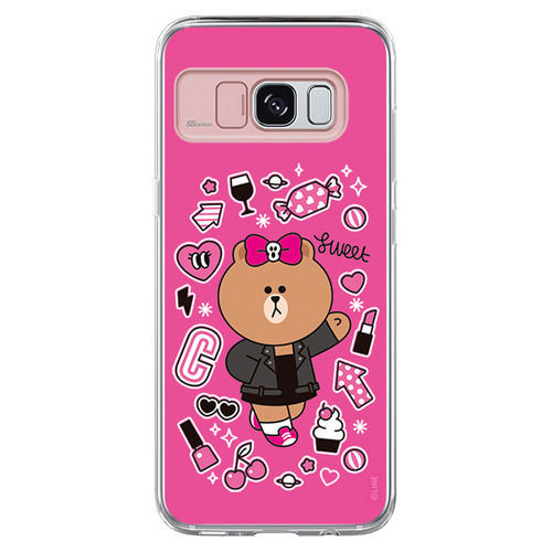 LINE Friends CHOCO Lighting Case Galaxy S8 / S8+ Character Cover Mobile Skin Acc
