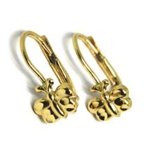 Ohrringe Anhänger Gelbgold 750 18K, von Säugling, Schmetterlinge Hammer - $160.83