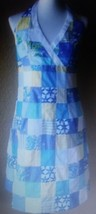 Lilly Pulitzer Marlin Halter Dress In Sewn Patch  Size 6 - $45.05