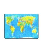 "World Map Vector 'One Layer' Fleece Blanket (Large) 58""x80"" - $58.00"