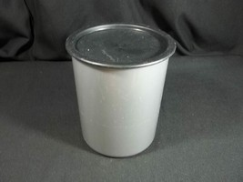 Tupperware One Touch B Canister Silver 2420 Black Lid - $12.82