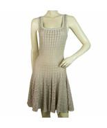 Alaia Silver Nude Viscose Sleeveless Knee length dress with flare skirt ... - $569.25