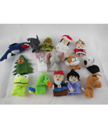 Awesome lot of 15 cloth finger puppets Educational Animals and people by... - $10.39