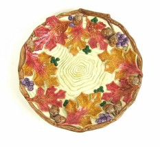 FITZ & FLOYD Autumn Woods Plate Rare Discontinued - $42.99