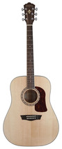 Washburn HD10S Heritage Series Dreadnought Natural Gloss Acoustic Guitar - $276.21