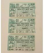 Rugrats Live Radio City Music Hall NYC Ticket Stub Vintage 1998 Lot of 3 - $24.99
