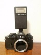 Nikon EM 35mm Camera Body & SB-E Flash * AS IS * Cosmetics EXC+++ - $13.95