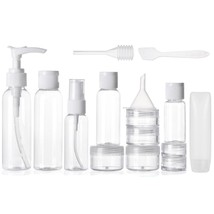 ALINK Travel Size Toiletry Bottles Set, Tsa Approved Clear Cosmetic Make... - $14.27