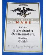ORIGINAL PRE WW2 NAZI CHAMPAGNE BOTTLE LABEL FROM 1934! - $20.00