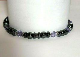 Beaded Bracelet Magnetic Hematite Clasp Single Strand   7 Inch   (MAG-015) image 6