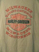 Mens Harley Davidson Since 1903 Milwaukee Wisconson Graphic Print T Shir... - $18.99