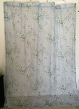 Croscill Pale Blue Floral Sheer Fabric Romantic Shower Curtain 68W x 74L - $32.66