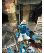 Smurfs Sitting Original 20026 SCHLEICH Vintage Smurf Figure Toy - $7.87