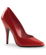 PLEASER Seduce-420V Series 5in Heel Pumps - Red Patent - $42.95