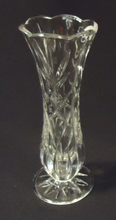 Deplomb Crystal Vase 8in X 3in X 3in Dep987 And Similar Items