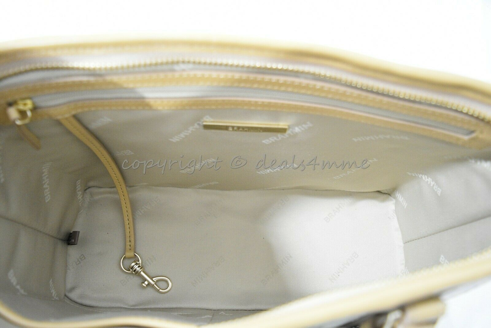 NWT Brahmin Mini Asher Leather Satchel/Shoulder Bag in Multi Pompano image 6