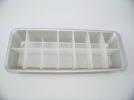 Vintage Aluminum Ice Cube Tray with Plastic Insert Retro 1970's Defective - $6.90