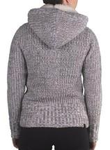 Bench Womens Oldbury Gray White Knit Hooded Cardigan Sweater BLFA1238 NWT image 2