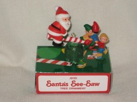 "1983 Avon "" Santa's See-Saw "" Christmas Tree Ornament - $6.32"