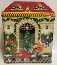 M&M's Christmas Village Series Number 13 Train Depot 2001 Candy Tin Cani... - $9.89
