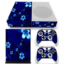 Blue Flowers Xbox one S Skin for Xbox one S Console and Controllers - $17.00
