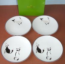 Kate spade Forest Drive Wickford Tidbit Plates Set of 4 Fox Design New I... - $36.90