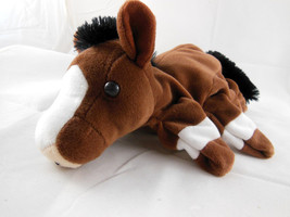 "Caltoy Glove  Horse Hand Puppet  brown w black mane and tail NICE 10"" - $8.90"
