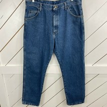 Wrangler Mens Blue 5 Pockets Design Regular Fit Denim Straight Jeans Siz... - $22.76