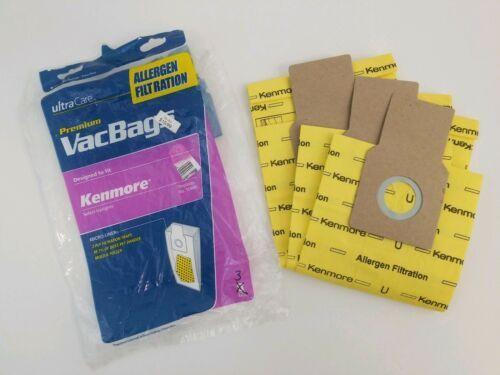 3 Kenmore Vacuum Cleaner Bags Type U O 50688 50690 5068 Allergen Micro Liner