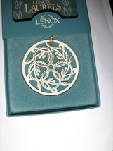 Beautiful Vintage Lenox 12 Days Of Christmas Ornament 5 Golden Rings 1989 - $49.99