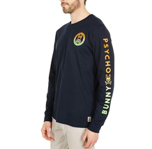 Men's Psycho Bunny Long Sleeve Sheffield Gradient Graphic Tee Logo Navy Shirt image 5