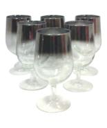 Mid Century Silver Mercury Ombre Wine Glasses-Set of Six - $99.00
