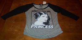 "WOMEN'S TEEN STAR WARS PRINCESS LEIA ""Don't Call Me Princess"" T-shirt SM... - $19.80"