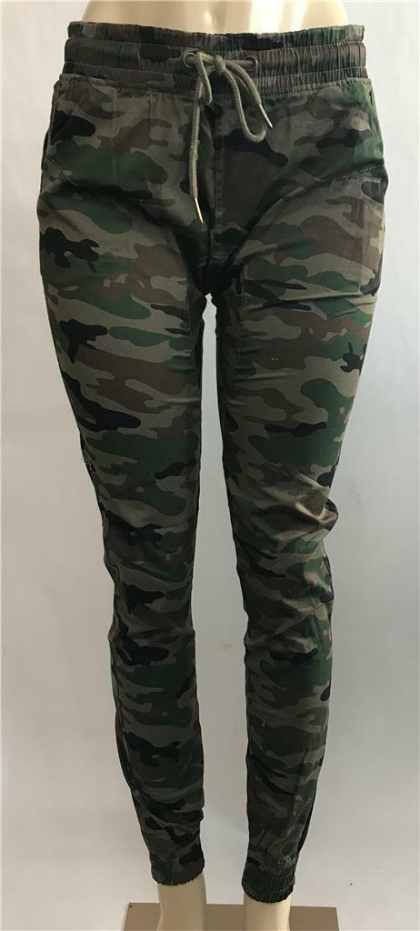 Primary image for Juniors New Soho Babe Semi Drop Crotch Slim Fit Camo Cotton Joggers AP-5170