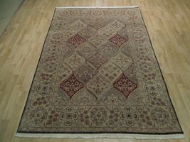 5x7 Multi-Color Oushak Wool Handmade Checked All-Over Transitional Area Rug image 4