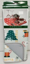 "Kitchen Microfiber Dish Drying Mat (15"" x 20"") CHRISTMAS TREES & SNOWMAN... - $13.85"