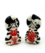 Salt Pepper Shaker Set Clancey Hearts Collectible Decorative Home Kitche... - $20.89