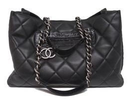 CHANEL $3750 Black Quilted Caviar Leather Shopper Tote Bag - $2,837.10
