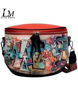 Luxy Moon Street Hip-Hop Style Color Matching Print Characters Summer Ne... - $29.03