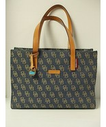Dooney and Bourke Denim Blue Signature 3 Section Tote Shoulder Bag EUC - $30.00