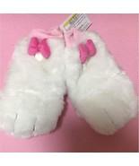 Tokyo Disney Resort limited Lady's Marie Ribbon gloves Mittens Fur pink ... - $54.45
