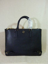 NWT Tory Burch Black Saffiano Leather Large Robinson Multi Tote - $595 image 5