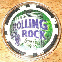 (1) Rolling Rock Extra Pale Beer Poker Chip Golf Ball Marker - Black - $6.69
