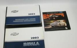 2003 Chevrolet Impala Factory Original Owners Manual Book Portfolio #47 - $17.77