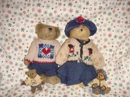 Boyds Bears 1996 Fall Bailey And Matthew Plush & Ornament Set - $36.99
