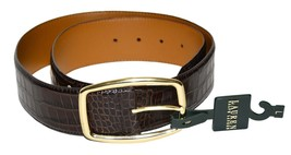 Lauren Ralph Lauren Women's Embossed Leather Belt Brown - $39.95