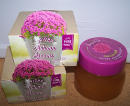 3 Pc Bath & Body Works Bright Autumn Blooms Set- Body Butter & Honey Body Scrub - $37.99