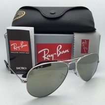 New Ray-Ban Polarized Sunglasses Aviator Large Metal RB 3025 003/59 Silv... - $199.95