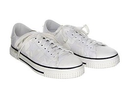 Valentino Star Low Top Sneaker Lace Up Sneakers White Espadrilles Shoe 41 - $367.99